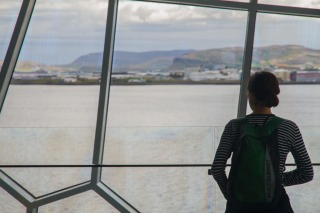Harpa Concert Hall and the view across the bay, Reykjavík