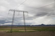 Icelandic powerlines.