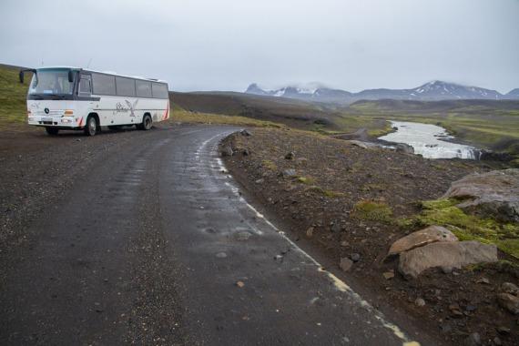 On the Kjölur route across the interior, near Kerlingarfjöll.