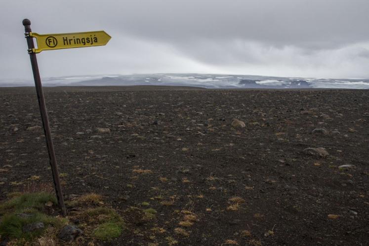 Icecap on the Kjölur route across the interior.