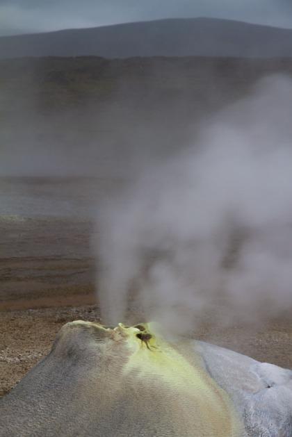 Hveravellir geothermal springs.