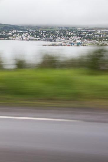 Akureyri across the fjord.