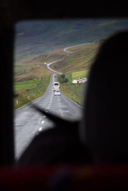 Leaving Akureyri, heading to Húsavík.