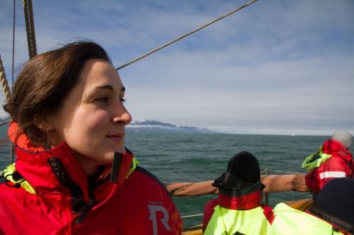 Aboard a whale watching tour, Húsavík.