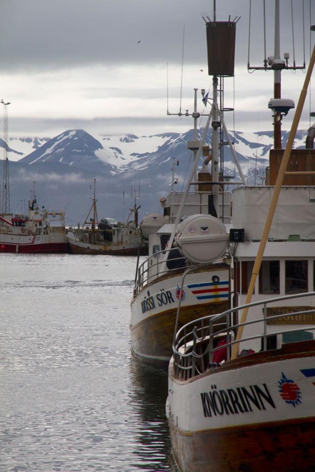 Húsavík harbour.
