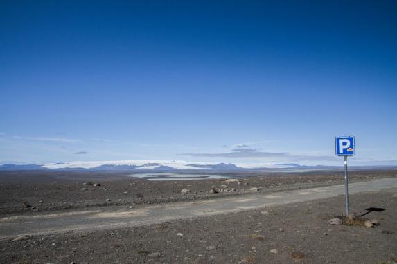 Looking towards one of the interior icecaps, probably Vatnajökull.